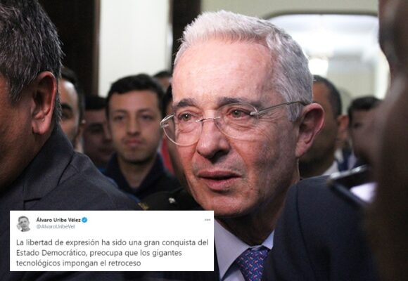 Álvaro Uribe arremete contra Twitter por cierre de la cuenta de Trump