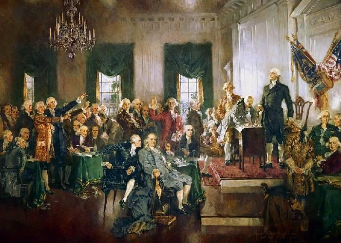 Lloran los padres fundadores de Estados Unidos