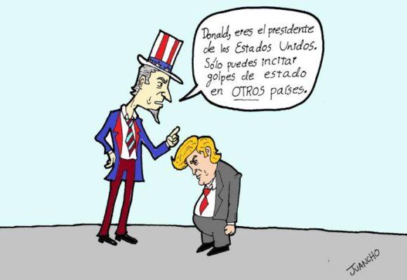 Caricatura: El pequeño Trump ataca de nuevo