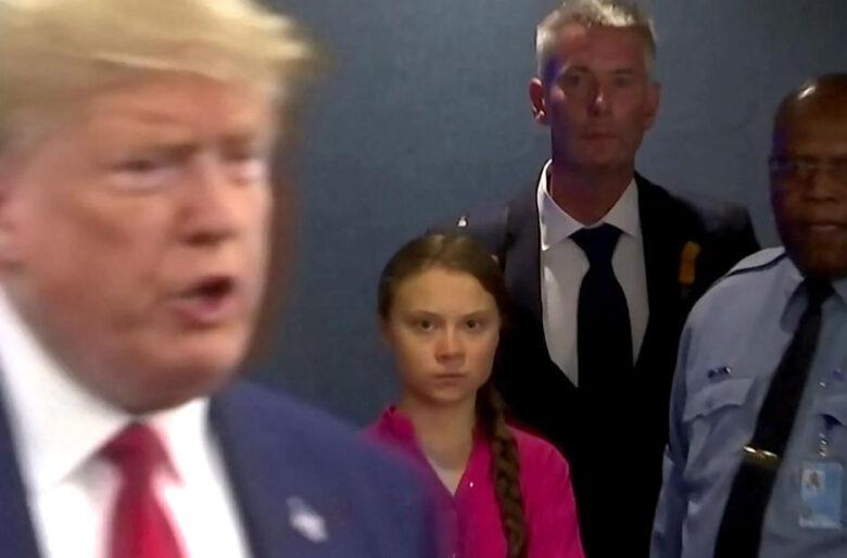 La última peinada de Greta Thunberg a Trump