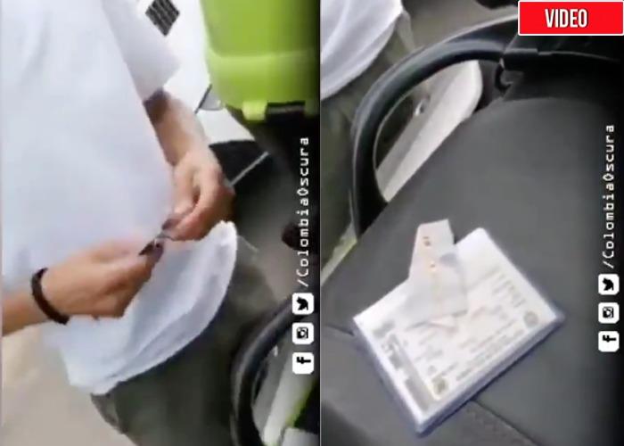 Video: Así se corrompe un policia en Colombia