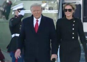 El adios de Trump a la Casa Blanca