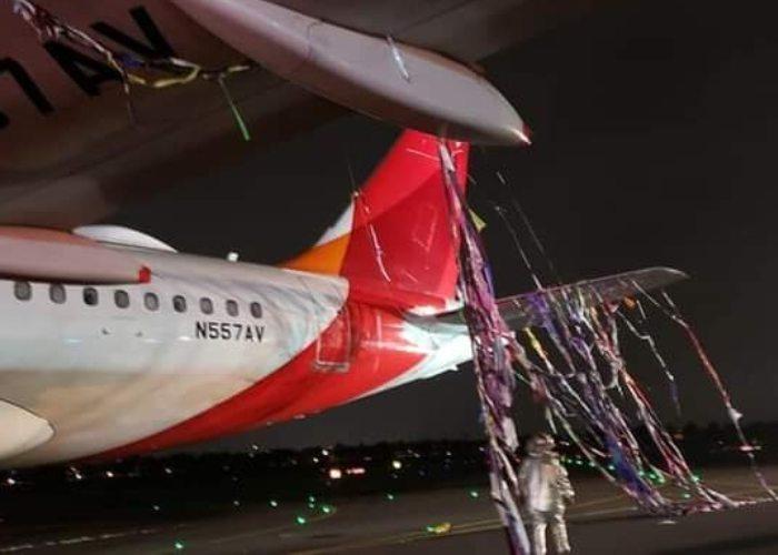VIDEO: avión de Avianca se estrella contra un globo en El Dorado