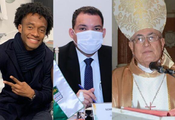 Cuadrado, el gobernador de la Guajira y el obispo de Santa Marta con Covid