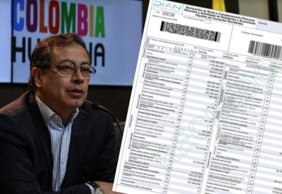 Gustavo Petro revela su declaración de renta: le salió saldo a favor