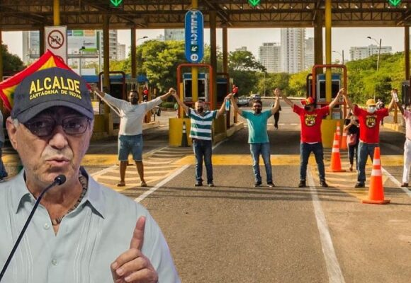 ¡Chao peajes internos en Cartagena! el alcalde se puso del lado de la gente