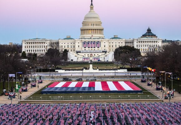 200 mil banderas reemplazan al público que no podrá estar en la posesión