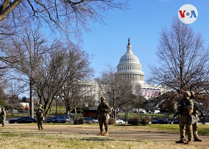 Washington se atrinchera para la posesión de Joe Biden
