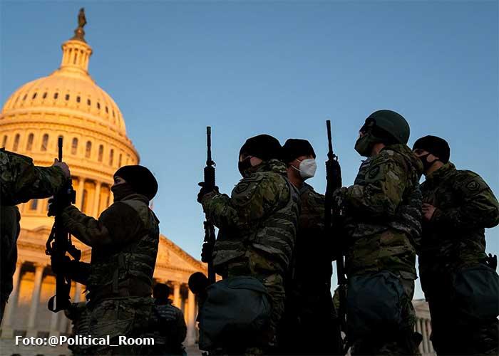 Los 20 mil soldados que cuidarán la posesión de Biden