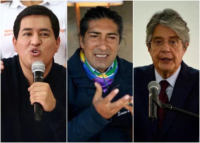 Arauz, Lasso y Pérez: estos son los candidatos favoritos a gobernar Ecuador