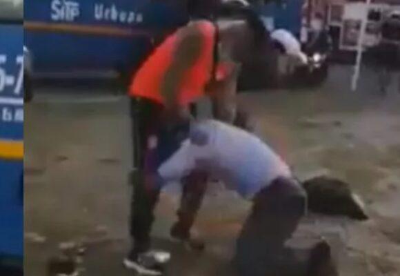 VIDEO: Vergonzosa pelea de conductor de SITP en Bogotá