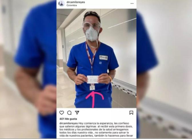 Ya apareció el primer colado de la vacuna en Colombia