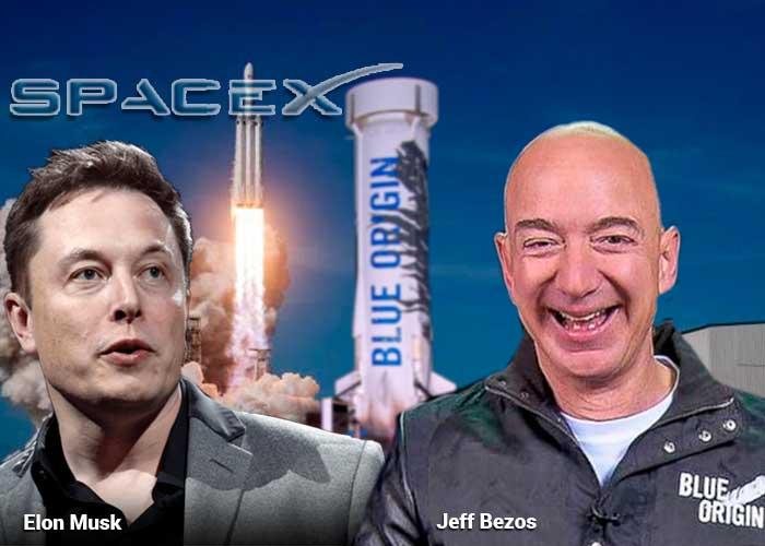 Jeff Bezos y Ellon Musk dos billonarios obsesionados con la conquista del espacio