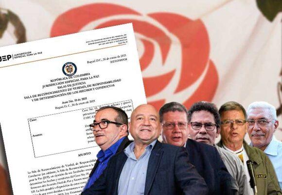 El documento de la JEP que acusa a 7 ex comandantes de las FARC