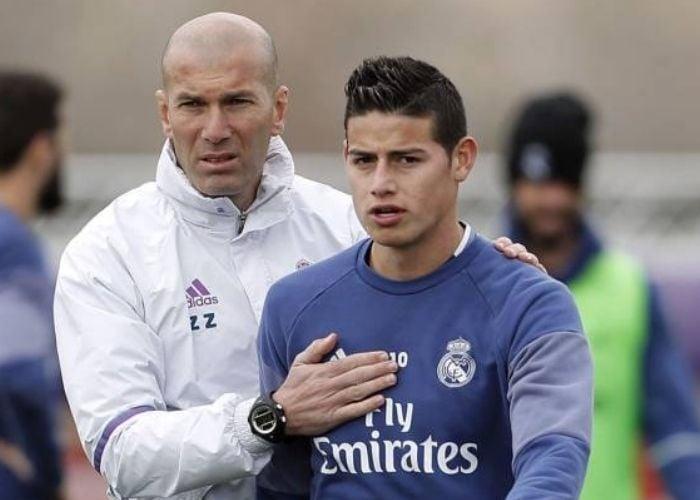 ¿James extraña mucho a Zidane?