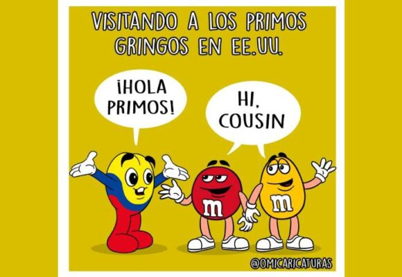 Caricatura: Visitando a los primos gringos en EE. UU.