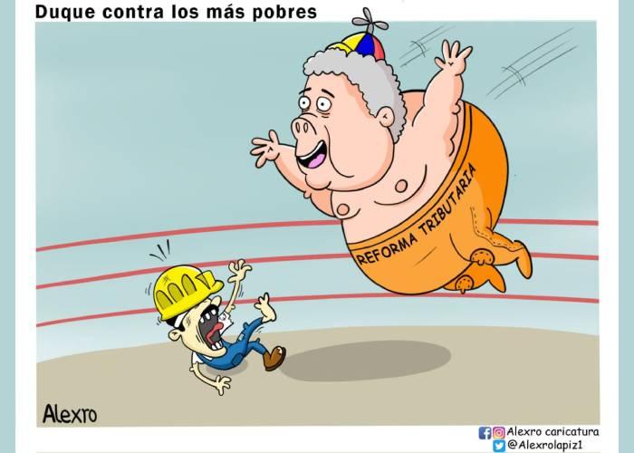 Caricatura: Duque contra los pobres