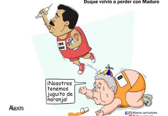 Caricatura: Duque volvió a perder con Maduro