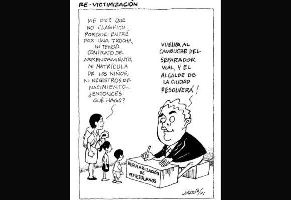 Caricatura: Revictimización