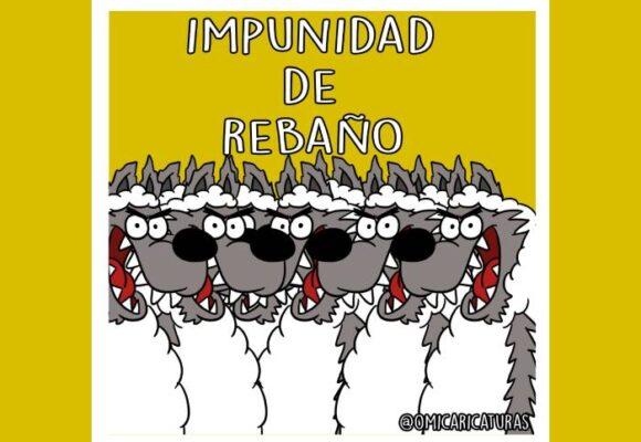 Caricatura: Impunidad de rebaño
