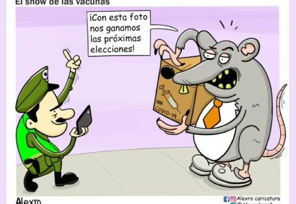 Caricatura: El show de las vacunas