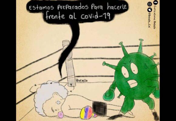 Caricatura: Frente al COVID-19