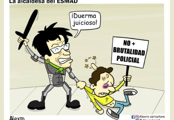 Caricatura: Claudia, la alcaldesa del Esmad