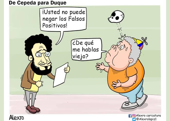 Caricatura: De Cepeda para Duque