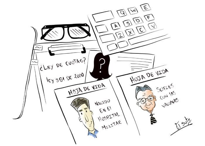 Caricatura: ¿Dónde están las ministras?