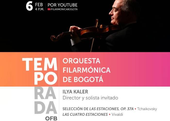 Con Ilya Kaler, la OFB inaugura su temporada de conciertos en escenario