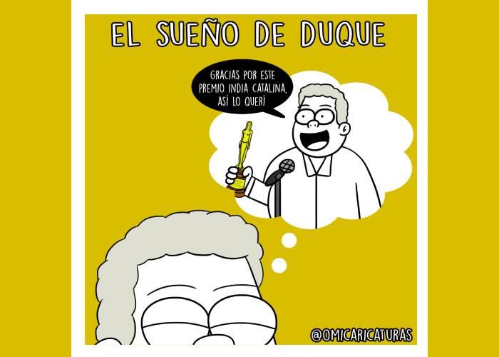 Caricatura: El sueño de Duque