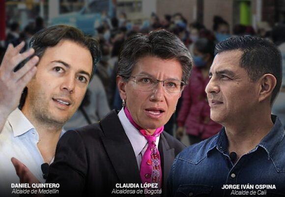 Castigo de la gente a los alcaldes de Bogotá, Medellín y Cali