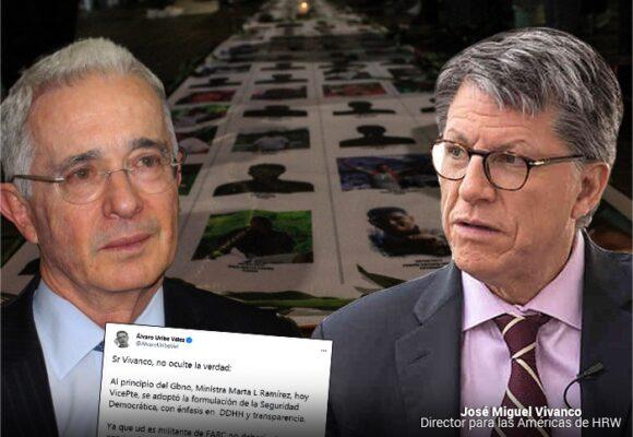 Agarrón de Uribe con Vivanco, de HRW, por falsos positivos