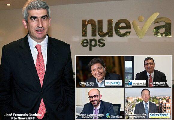 ¿Quiénes manejan las 5 EPS que mandan en Colombia?