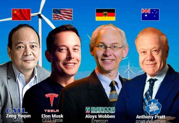 Los 10 que han hecho billones con la economía verde
