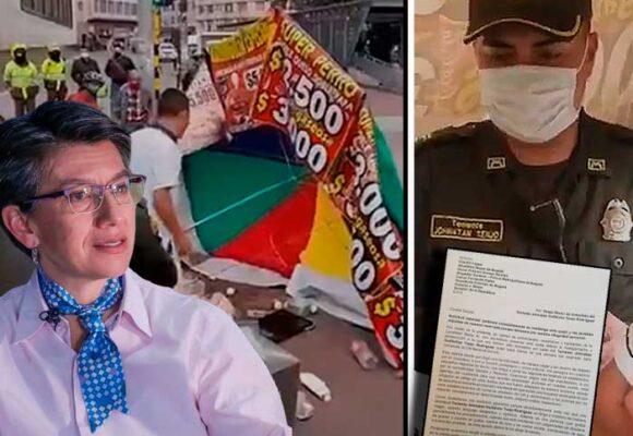 Los otros líos del teniente Tenjo, recordado por encontronazo con vendedor ambulante en Bogotá