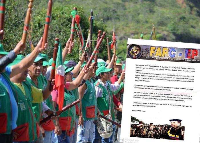Disidencias de las FARC declaran objetivo militar a la guardia indígena en el Cauca
