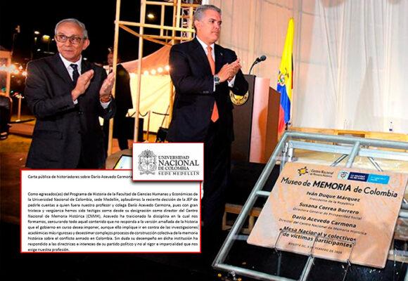 Darío Acevedo, al banquillo por sus propios colegas historiadores