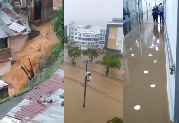Cali, completamente inundada. Videos