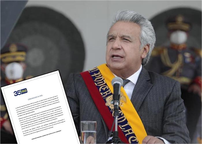 El partido del presidente ecuatoriano Lenín Moreno, expulsa al mandatario de sus filas