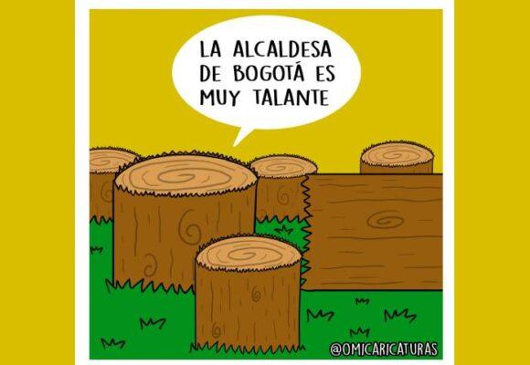 Caricatura: La alcaldesa de Bogotá es muy talante