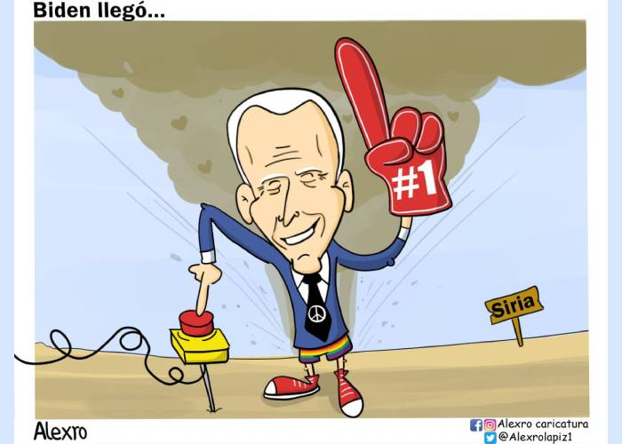 Caricatura: Biden llegó