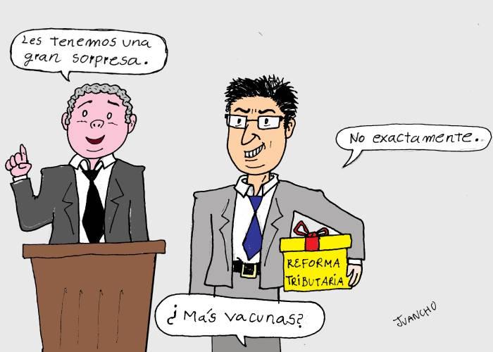 Caricatura: Ya se viene la reforma tributaria
