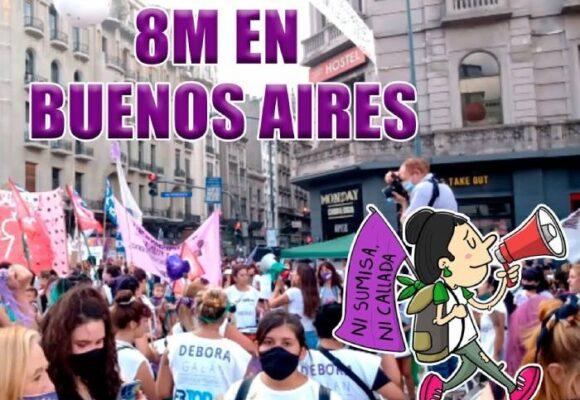 Caricatura: El 8 de marzo en Buenos Aires