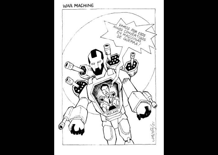 Caricatura: War machine