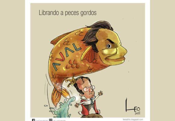 Caricatura: Librando a peces gordos