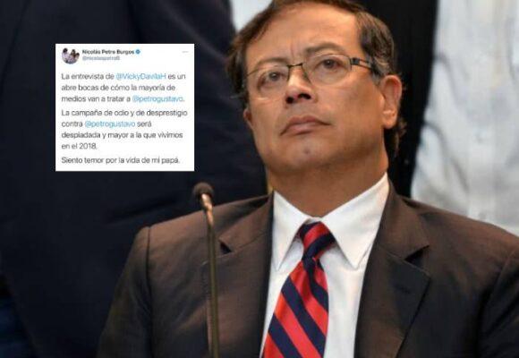 """""""Siento temor por la vida de mi papá"""": Nicolás Petro Burgos"""