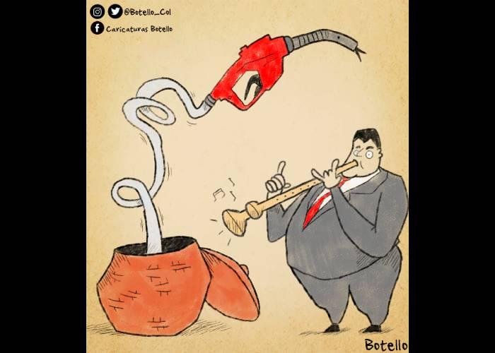 Caricatura: Aumento de la gasolina