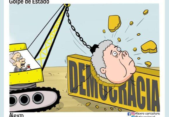 Caricatura: Golpe de Estado