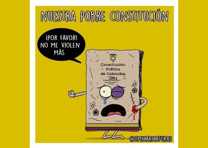Caricatura: ¡Por favor, no me violen más!